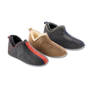 Shepherd Sheepskin Slippers, Women or Men The secret of success for cold feet: Slippers made from snugly soft, lightweight sheepskin.