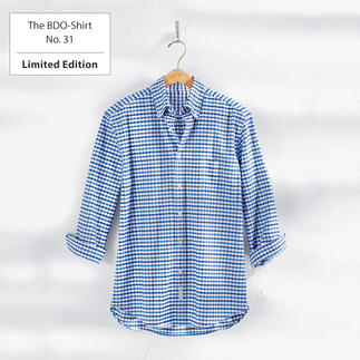 The BDO-Shirt No. 31, checked Meet a good old friend. And forget that shirts always need ironing.