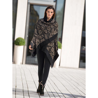 Alpaca Jacquard Cape Exquisite and elegant, yet tough enough to wear every day.