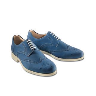 "Weber Full-Brogue Derby ""Ocean Blue"" Fit for a marathon. Rarely are casual (and comfy) shoes like these this elegant."