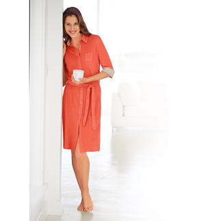 Pluto Fine Terry Dress Feminine and elegant: Your summery alternative to a dressing gown or leisure wear.