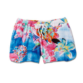 "Who's Who Terry Shorts ""Flowers"" The colourful flower print transforms these terry shorts into a fashion highlight."