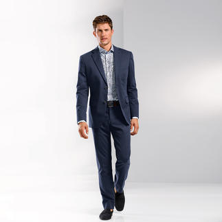 Diamond-Finished Cotton Suit Cotton with a diamond finish: Less shiny, a lot softer and classier.