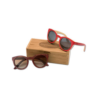Topheads Bamboo Sunglasses Lighter, tougher, and more interesting. Bamboo eyewear by Topheads tops the list in hip wooden shades.