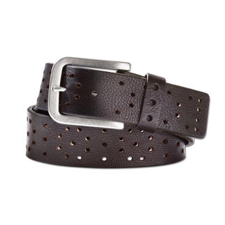 Ludwig Schröder Buckskin Casual Belt Extremely flexible, thanks to its decorative perforation.