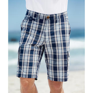 Eurex By Brax Glen Check Bermuda Shorts The most stylish way to wear check shorts. In classic glen check and maritime colours, with a proper length.