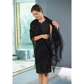 Twin-Set Lace Stole The fringed stole is a fashion essential. Very rare in lace design.