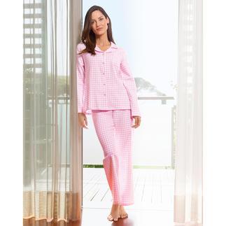 NOVILA Vichy Check  Flannel Pyjamas Pyjamas that make a good first impression every morning.