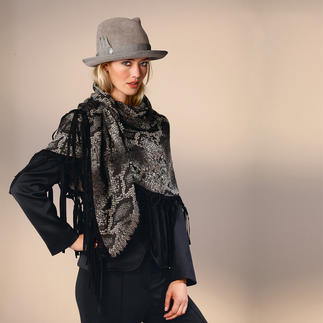 Jacquard Reptile Scarf A 3-D weave instead of a flat printed design.
