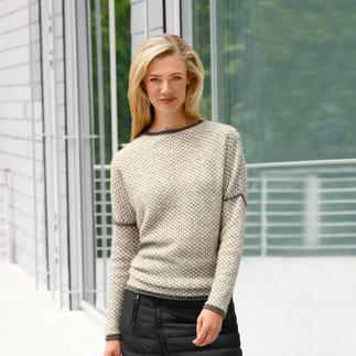 Baby Alpaca Wool Honeycomb Pullover Up-to-date in style and design. By alpaca specialist Clark Ross.