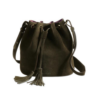 Bogner Suede Drawstring Bag Also great in small: The trendy miniature in a fashionable drawstring design.