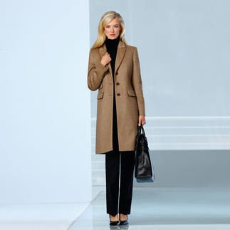 Camel Hair Coat Exquisite camel hair. Elegant blazer cut. Versatile colour. Endless opportunities to wear it.
