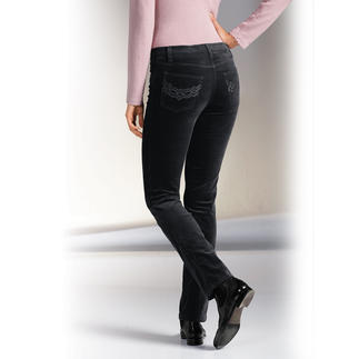 Magic-Velvet-Jeans Flatter stomach. Firm bottom. And a slender waist.