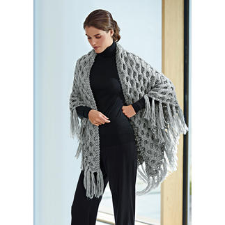 """Hand-Knitted """"Monastero"""" Shawl Limited to 800 items per year. Each piece is skilfully crafted and unique."""