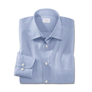 Faux-Plain-Shirt Stylish minimalist pattern in a digitally printed design.