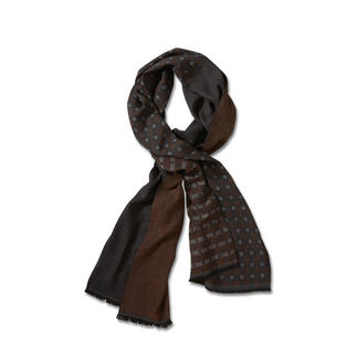 alpi Mixed Pattern Double-Face Scarf Mix of patterns – superbly understated, stylish and versatile.