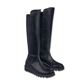 Anna F. Stretch Boots Perfect fit for your calf. Versatile and comfy. With ultra-lightweight, non-slip sole.