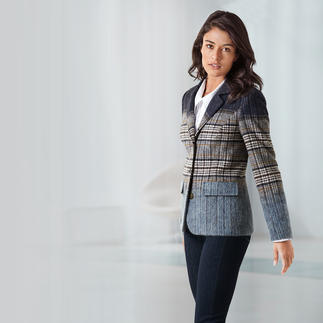 Colour Gradient  Check Blazer Fade-out checks and graduated colours: Fashionable update for the classic check blazer.