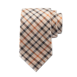 "DAKS Checked Necktie ""House Check"" There are many checked neckties, but this one is from a royal purveyor."