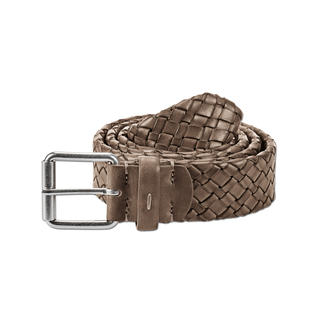 Andrea Zori Hand-Braided Belt Luxury made in Italy: Hand-braided belt made of beautifully soft calfskin leather.