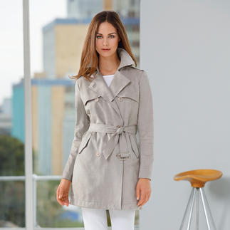 Liu Jo Alcantara Trench Coat Hard to distinguish from suede, but far more resilient.