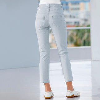 Magic Jeans, striped A flat tummy, shapely rear and slim waist.