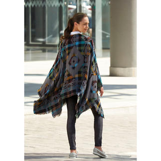 Ethno Jacquard Poncho A superb example of its type – multicoloured poncho with ethnic flair.
