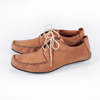 Sole Runner® Leather Moccasins Ultra lightweight and flexible, plus elegant enough to wear with a summer suit. Handmade.