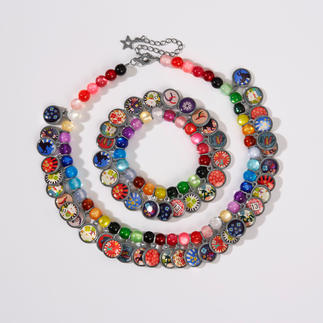 LITCHI Ethno Lucky Necklace or Bracelet Fashionable ethnic jewellery, elaborately hand-made, with Brazilian lucky charms.