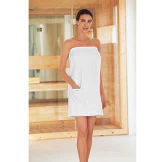 Taubert Sauna Sarong No more accidental falling open: The slip-proof sauna sarong with three 