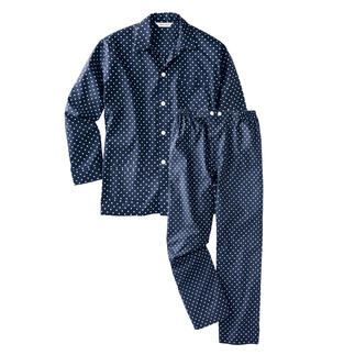 Winston-Pyjamas Gents' nightwear in classic spot design.