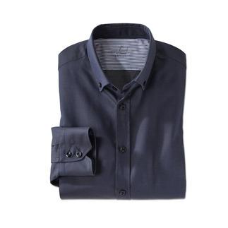 van Laack Caviar Dotted Shirt Classic dark blue. Fine woven (not printed) caviar dots.