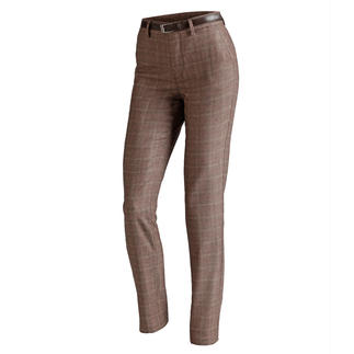 "Mason's ""Glen Check"" Chinos Perfectly tailored to the female form: Feminine chinos with an on-trend glen check pattern."