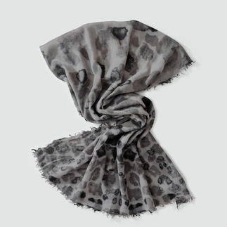 "Leopard Look Scarf ""Abstract Print"" A very special animal print: More abstract. More subtle. More versatile."
