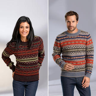 Eribé Fair Isle Women's or Men's Pullover Never out of fashion and yet very hard to find. Made from real Shetland wool, knitted on the Shetland Islands.