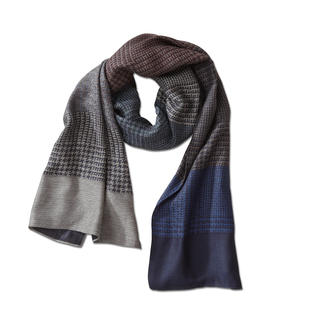alpi Mixed Pattern Scarf Rich in colour and pattern, yet stylishly subtle and incredibly easy to mix and match.