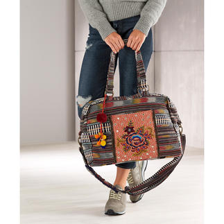 Smitten Ethnic Overnight Bag Combines an ethnic style with ethics in a beautiful and sustainable manner.