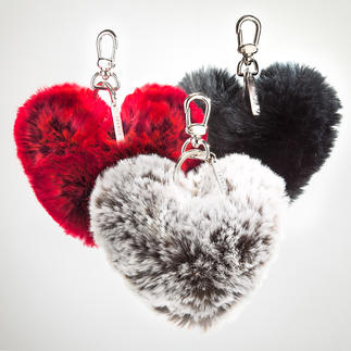 Faux Fur Heart Key Ring A very practical gift that will keep the recipient thinking of you.