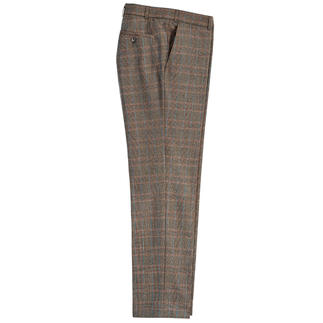 Hoal Super 130 Glen Check Trousers Super 130 virgin wool is always hard to find. Finished with cashmere, it is a real rarity. By Hoal.