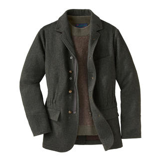 Hunting Jacket A stylish alternative to functional high-tech jackets. Naturally warm and water repellent.