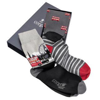 Corgi Socks, Set of 3 Socks as a gift? Not really. Except socks from Corgi. British chic.