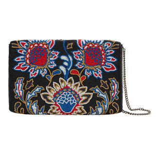 Smitten Reversible Clutch Artfully hand-embroidered. And especially versatile thanks to one white side and one black side.