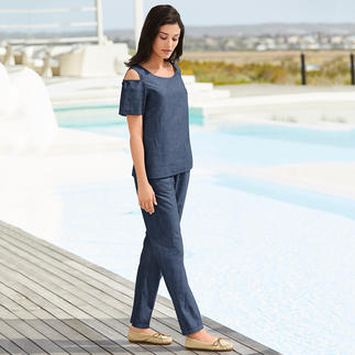 Alma & Lovis Mix And Match Holiday Top or Trousers A real hit in five ways: Lightweight, airy, versatile, on-trend and affordable.