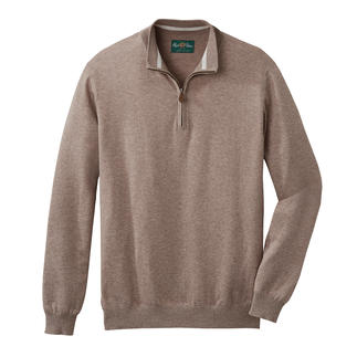 Alan Paine Year-round Zip-neck Pullover Exceptionally stylish. Ideal throughout the year. The fine knit zip-neck pullover made of Pima cotton.