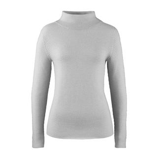 Turtleneck Rib Jumper Trendy rib knit – but extraordinarily fine and feminine. The jumper with trendy turtleneck collar. Gran Sasso.