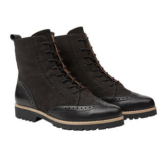 Werner Brogue Style Boots Bang on-trend design. Super soft leather. Light, insulating TPR sole. By Werner.