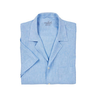 van Laack Bowling Shirt The bowling shirt for gentlemen. In classic white and light blue and made from pure linen. By van Laack.