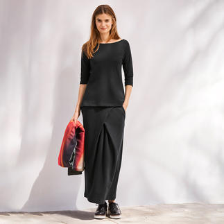 [schi]ess Jersey Top, 3/4-length sleeves or Maxi Skirt A jersey outfit for everyday wear or elegant leisurewear? Both! Chic black. Soft jersey. Clean, casual cut.