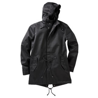 Waterproof Cotton Parka The natural look of cotton. The features of hi-tech fabric. Windproof. Waterproof. Breathable.