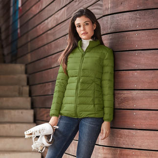 Recycled Down Quilted Jacket for Women Plenty of warmth. Little weight. And a good conscience. Fashionable and rare jacket made from recycled down.